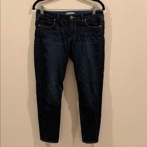 Paige denim dark skinny jeans